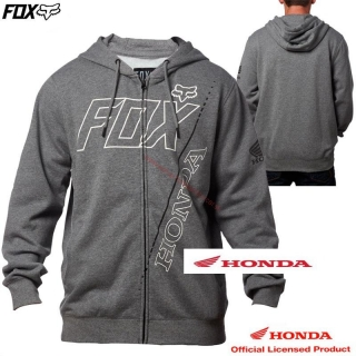 HONDA FOX mikina Zip Fleece/Šedá