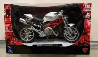 Model motocykla DUCATI Monster 1100 Šedý 2010 1:12